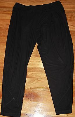 Womens Black Stretch Pants - TS - Size 14