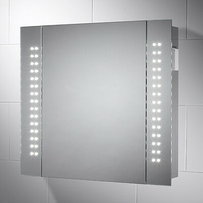 Led Illuminated Cabinet Mirror With Sensor, Shaver & Demister Rowan