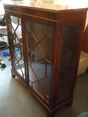 Lovely large mahogany astragal glazed display cabinet with glass shelves