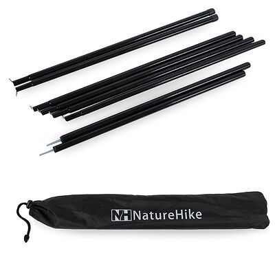 8 Sections Outdoor Camping Tent Poles 50 x 1.5cm Galvanized Iron Canopy Awning