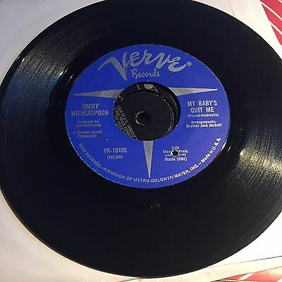 Jimmy Witherspoon - Past Forty Blues / My Baby's Quit Me on Verve    .Blues, RnB