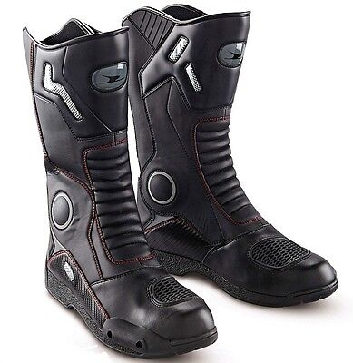 Motorcycle Boots Leather Waterproof Motorbike Race Boots