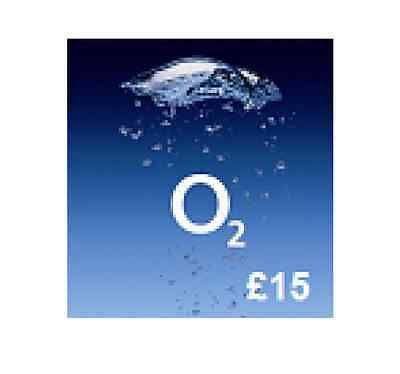 £15 O2 Mobile TOP UP VOUCHER