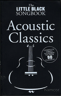Acoustic Classics The Little Black Songbook Guitar Chord Music Song Book