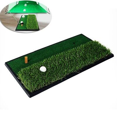 Newly Golf Practice Mat Dual-surface Hitting Mat Tee Golf Swing Training Aid