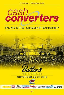 Cash Converters Players Championship Finals 2016 Official Programme
