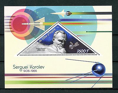 Ivory Coast 2016 MNH Sergei Korolev 1v S/S Space Stamps