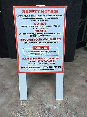 A Frame Bouncy Castle Safety Sign, Disco Dome, Inflatable Slide