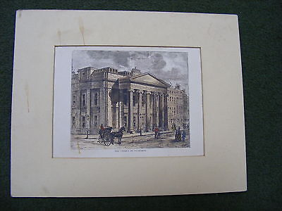 PALL MALL EAST. The College of Physicians. London c1880 old antique print