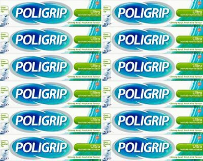 Poligrip Denture Fixative Cream Ultra 40g x 12 Packs