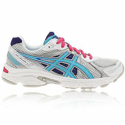 ASICS Junior Kids GEL-GALAXY 7 GS White Cushioned Running Trainers Shoes j5