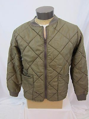 Vintage BASS PRO Quilted Insulated Thermal Polyester Coat / Jacket - Medium USA