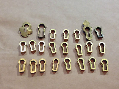 Old Vintage Brass Key Escutheon Inserts Collection Mixture