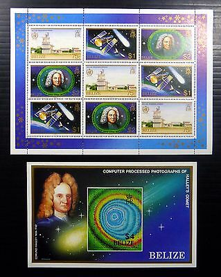 BELIZE 1986 Halley's Comet Sheetlet & M/Sheet As Described U/M Cat £16.50 FP8493