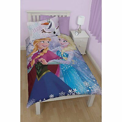 Official Disney Frozen Warm Hugs Reversible Single Duvet Cover Bedding Set