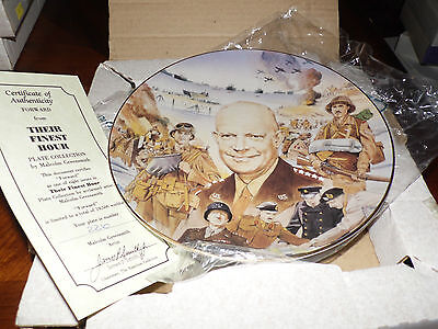 Hamilton Their Finest Hour Collectors Plate WWII Forward  552B