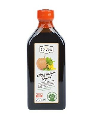 ECO RAW PUMPKIN SEED OIL Cold Pressed Unrefined 250ml Ol'Vita Olej z pestek dyni