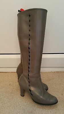 Small pair of ladies grey vintage boots, attractive design