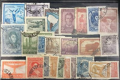 Argentina stamps - 25 used all different 1935-1959
