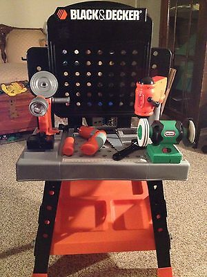 Kids Black and Decker Work Bench with Power Tools