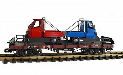 Zenner Car carrying truck with 2 Piaggio, G Scale, LGB compatible Clutch