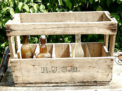 Vintage Wooden Wine Crate  French  Home Garden Display Art