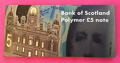 Bank of Scotland £5 POLYMER in PRESENTATION PACK - Edition of 1000 - AA004277