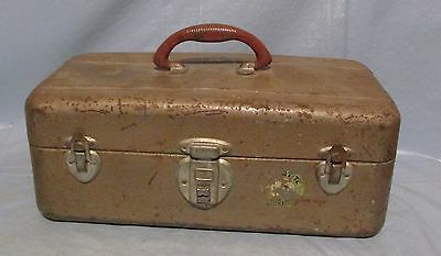 Vintage Union Steel Chest Metal Watertite Fishing Tackle Tool Box Made In Usa
