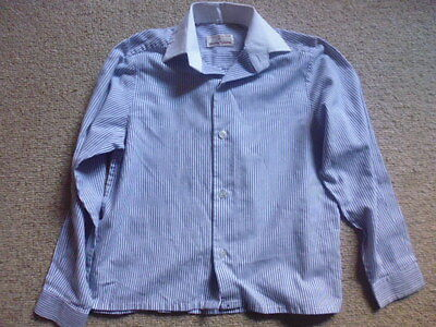 "Showing Selection Child's Competition Show Shirt blue stripe size 11"" age 4-5"