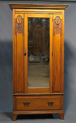 Antique Victorian Mirror Door Wardrobe • £240.00