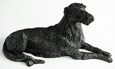Irish Wolfhound Model - Hand Crafted from Coal - 29cm