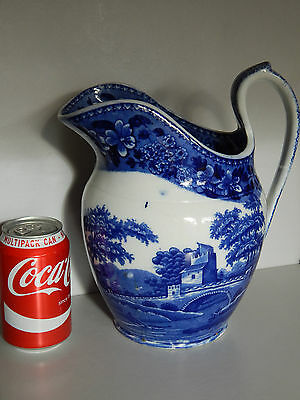 Large antique Blue & White Copeland Spode Tower Jug