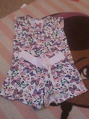 kids infant girl 3-4 butterfly short outfit