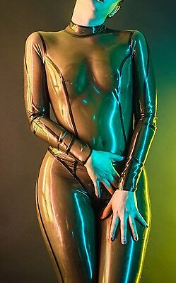 catsuit smoky latex rubber fetish T S