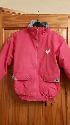 Buddies by Shires Girls Pink riding equestrian jacket coat Age 9-10 Years