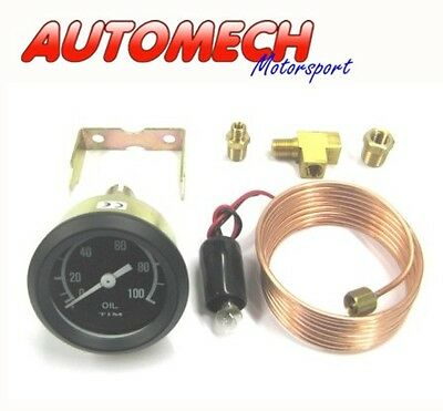 Tim Oil Pressure Gauge Kit 52mm Including Pipe, Unions and Fittings (700005)