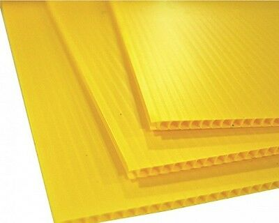 "Corrugated Plastic 18"" x 24"" 4mm Yellow Blank Sign Sheet Coroplast Vertical"