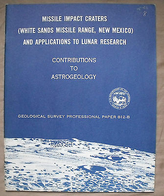 USGS APOLLO WHITE SANDS MISSILE CRATERS Lunar Research Vintage 1976 Report