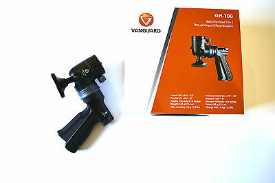 Vanguard GH-100 Pistol Grip Tripod Head with Quick Release Plate | Excellent