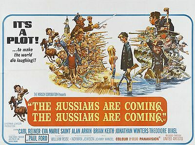 """The Russians are Coming 16"""" x 12"""" Reproduction Movie Poster Photograph"""