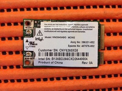 Tarjeta WI-FI / Wireless PRO/Wireless WM3945ABG Packard BELL Acer HP DV2000 VAIO