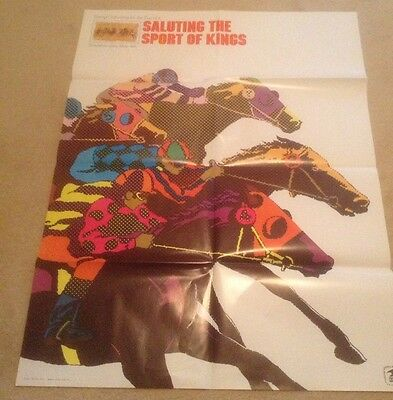 Salute The Sports Of Kings 1974 US Post Office Poster horse Racing
