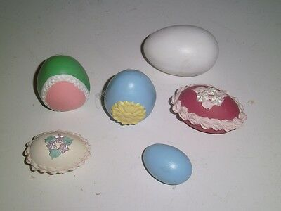 Vintage faux 'white' chocolate pastel ceramic Easter Eggs