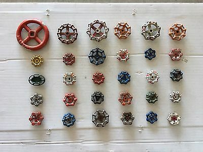 30 Vintage/antique Valve Handles Water Faucet Knobs Steampunk Industrial Art#716