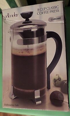Primula Classic Glass 8-Cup Coffee Press with Black Handle New