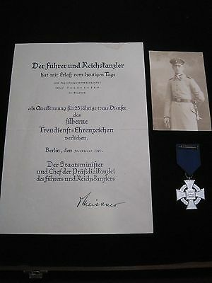 Adolf Baumeister Bavarian Infantry Attributed 25 Year Faithful Service Cross Doc