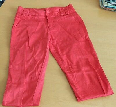 Girls Red Jeans Trousers Age 11