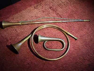 Brass French Horn, Bugle & Straight Horn (3 Items)