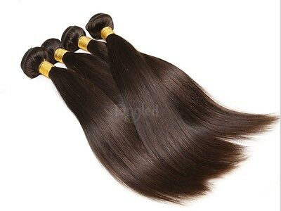 Luxury Silky Straight Peruvian Dark Brown #2 Virgin Human Hair Extensions