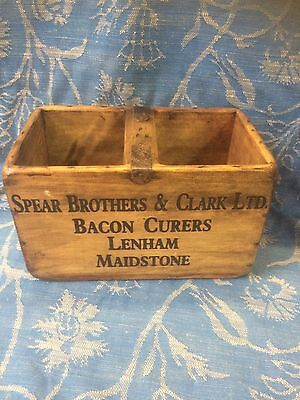 Vintage Wooden Crate/Trug Spear Brothers & Clark Bacon Curers